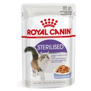 vrečke mačje hrane Sterilised želeju Royal Canin