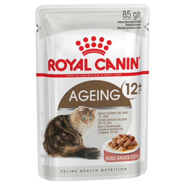 vrečke mokre hrane agein +12 v omaki Royal Canin