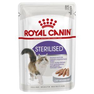Vrečke mačje hrana sterilised v pašteti Royal Canin