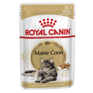 Vrečka mokre hrane na maine coon mačke Royal Canin